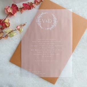Transparent vellum Arrezo invitations