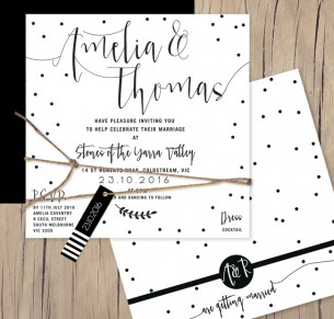 simply sublime flat card invitation