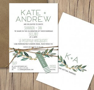 Tuscan sun flat card invitation