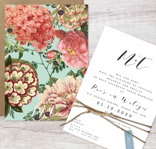 Wategos flat card invitation