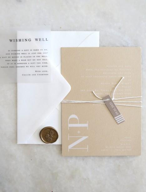 natalia design on nude wedding invitation