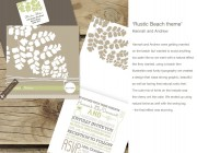 Rustic Beach theme wedding invitation