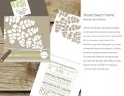 Rustic Beach theme wedding invitation
