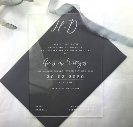 Clear Acrylic bliss invitation