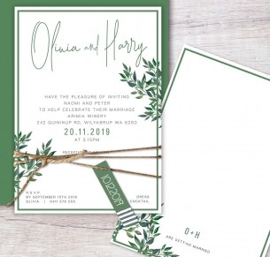 rendezvous flat card invitation