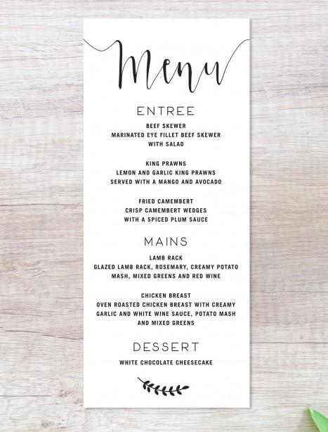 simply sublime black menu