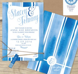 watercolour so frenchy flat card invitation