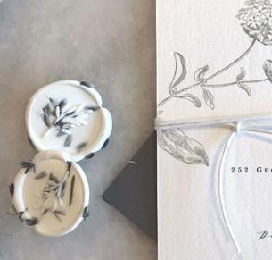 dried lavender wax seals self stick