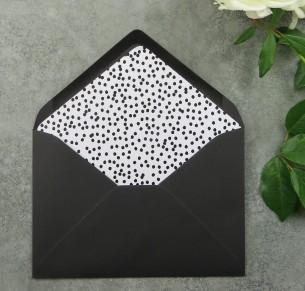 black dotted envelope liner