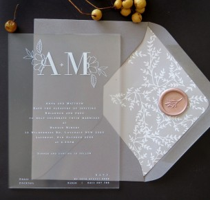 frosted acrylic the romance invitation