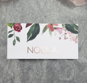 Bordeaux rose gold placecard