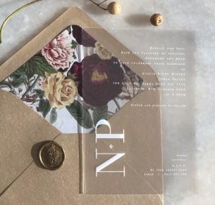 Frosted acrylic natalia invitation