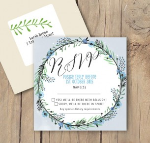 circle of blossoms rsvp card