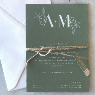 the romance white ink invitation