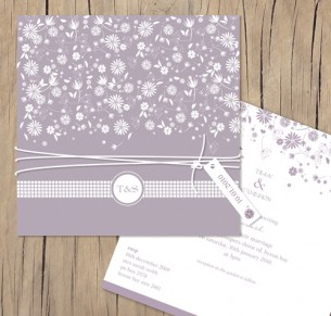 falling into spring wedding invitation