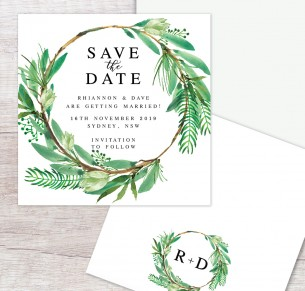 watercolour lush save  the date