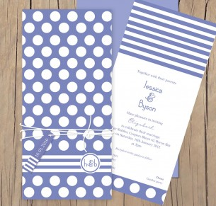 get spotted wedding invitation