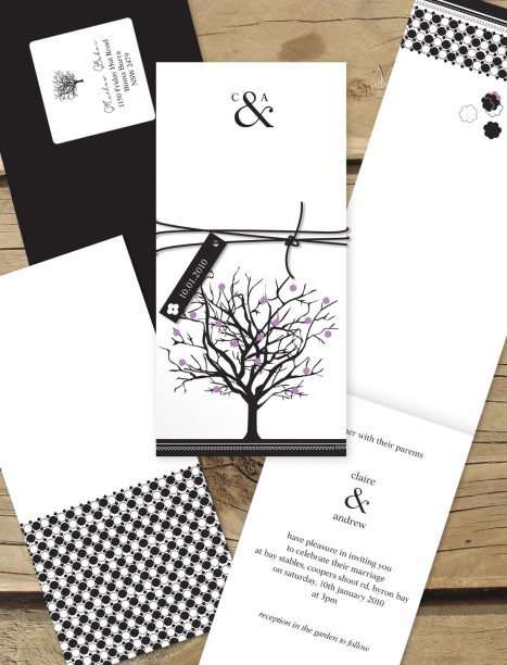 Jacaranda Joy wedding invitation