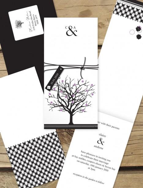 Jacaranda Joy wedding invitation