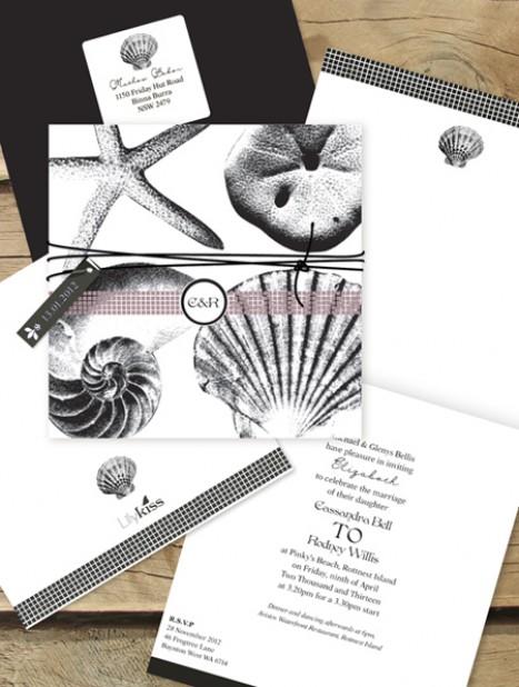 beach theme invitation