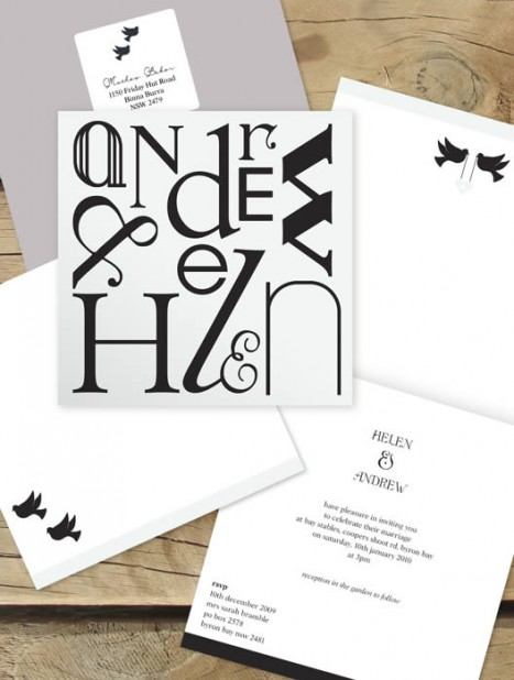 name game wedding invitation
