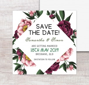 vintage peonie save the date