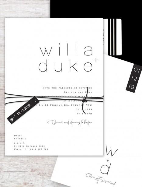 Stockholm flat card invitation