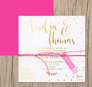 gold metallic foil! dream pretty invitation