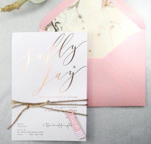 Rose gold foil! flirtation invitation