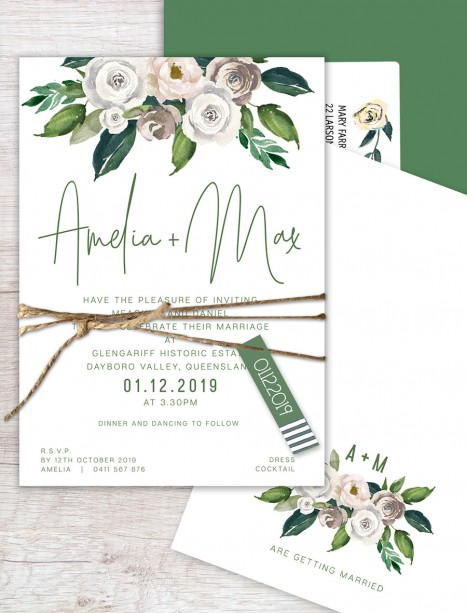 forever flat card invitation