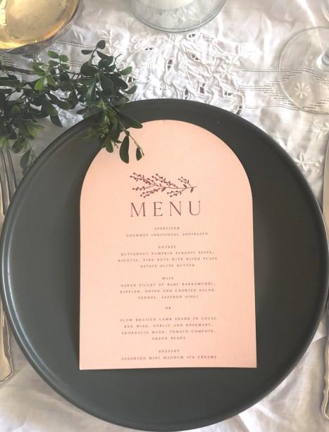 arch menu sage design