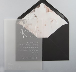 transparent Vellum Harmony invitation