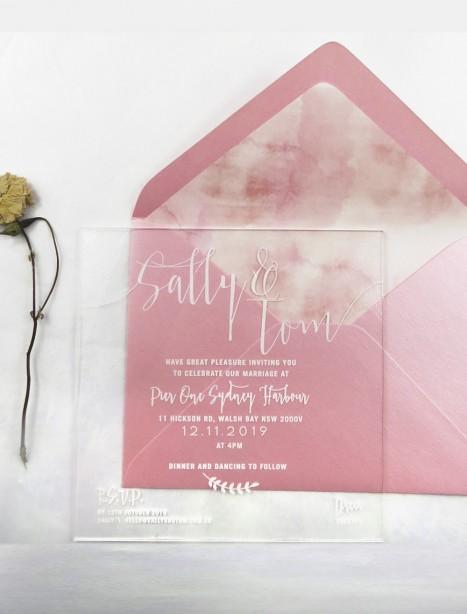 Clear Acrylic simply sublime invitation