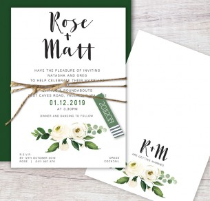 Whole lot of Rosie flat card invitation