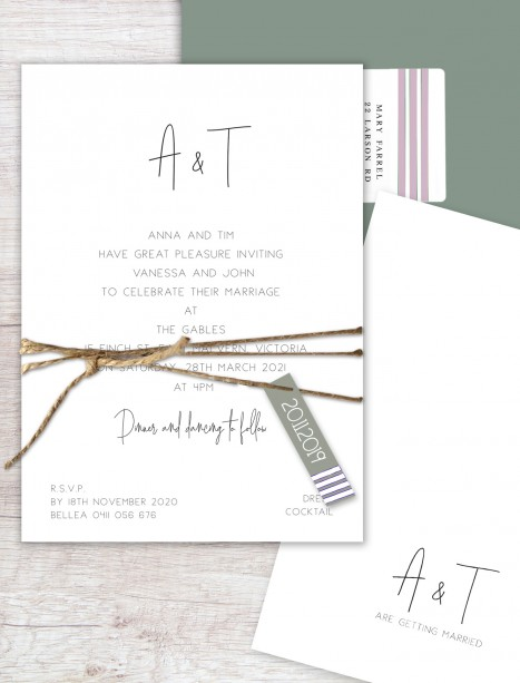 anna flat card invitation