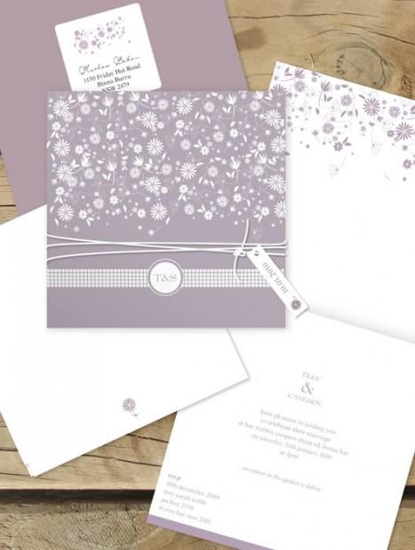 falling into spring wedding invitation