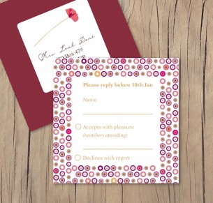 paper poppies RSVP