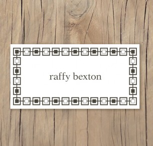 budding monogram placecard