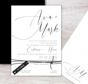Oh so chic wedding invitation