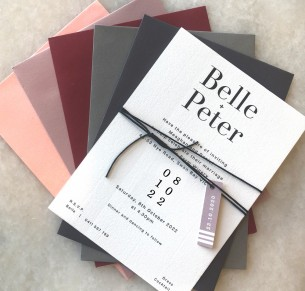 Belle cheaper flat card invitation