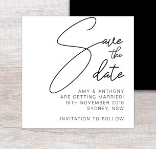 Berlin save the date wedding invitation
