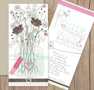 vintage jam jar invitation