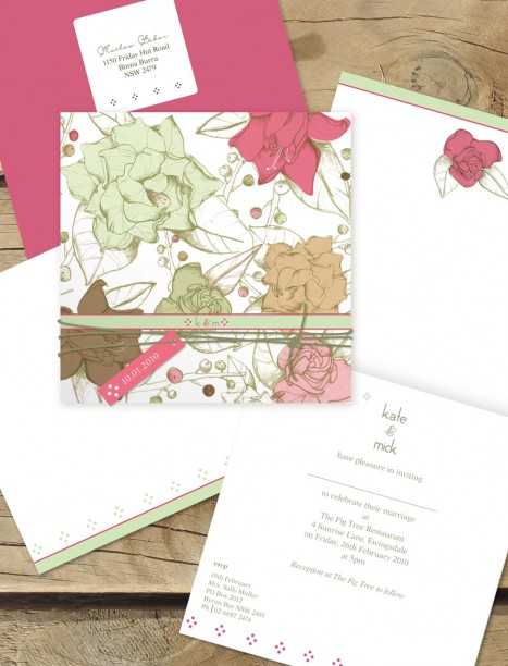 flower garden wedding invitation