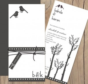 El amor bird invitation