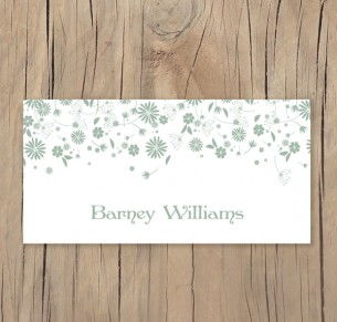 falling into spring placecard