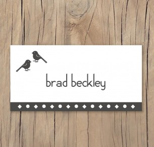 El amor birds placecard
