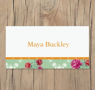 vintage tint placecards