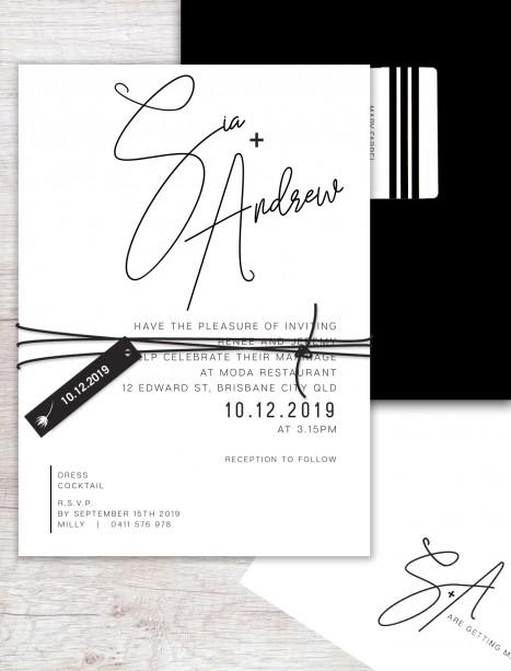 Berlin flat card invitation