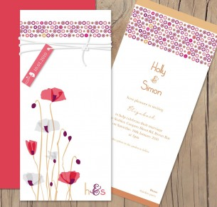 paper poppies invitation