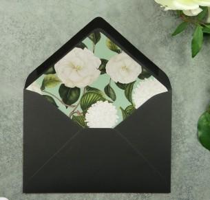 botanical sage envelope liner